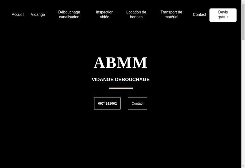 Capture d'écran du site de ABMM