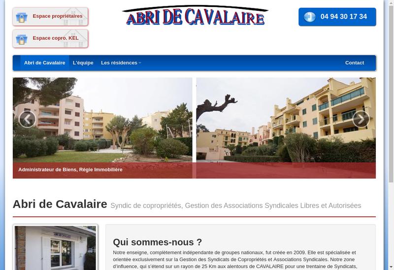 Capture d'écran du site de Abri de Cavalaire