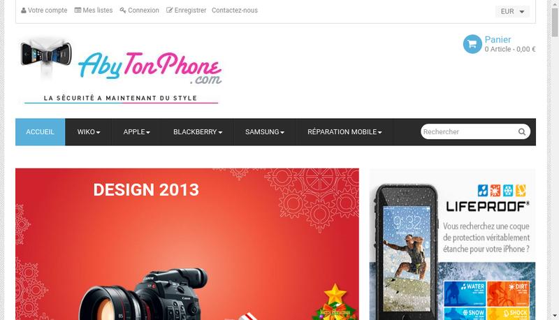 Capture d'écran du site de Abytonphone