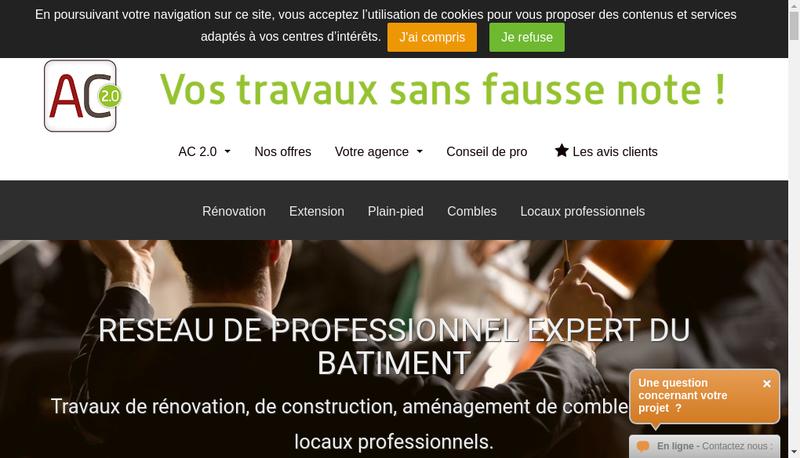Capture d'écran du site de AEL