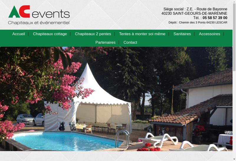 Capture d'écran du site de AC Events