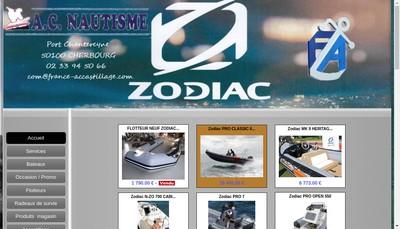 Site internet de Accastillage Center