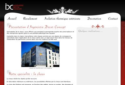 Capture d'écran du site de Acacia Jardins
