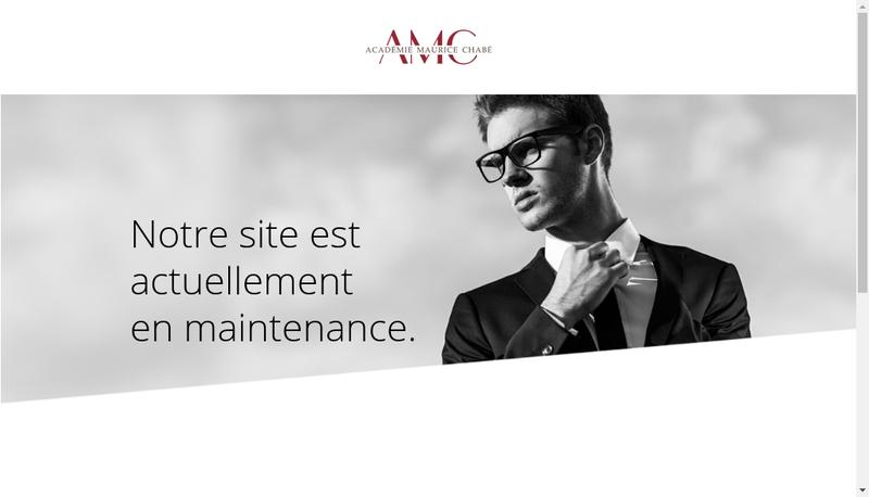 Capture d'écran du site de Academie Maurice Chabe