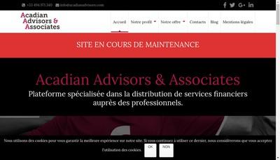 Site internet de Acadian Advisors & Associates