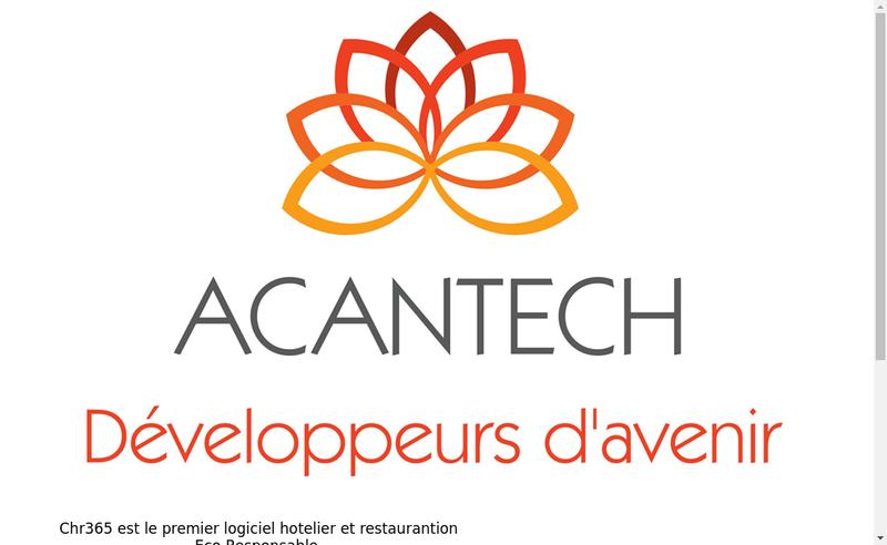Capture d'écran du site de Acantech