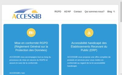 Site internet de Accessib
