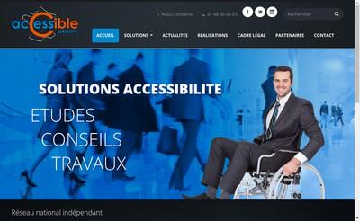 Site internet de Accessible Groupe