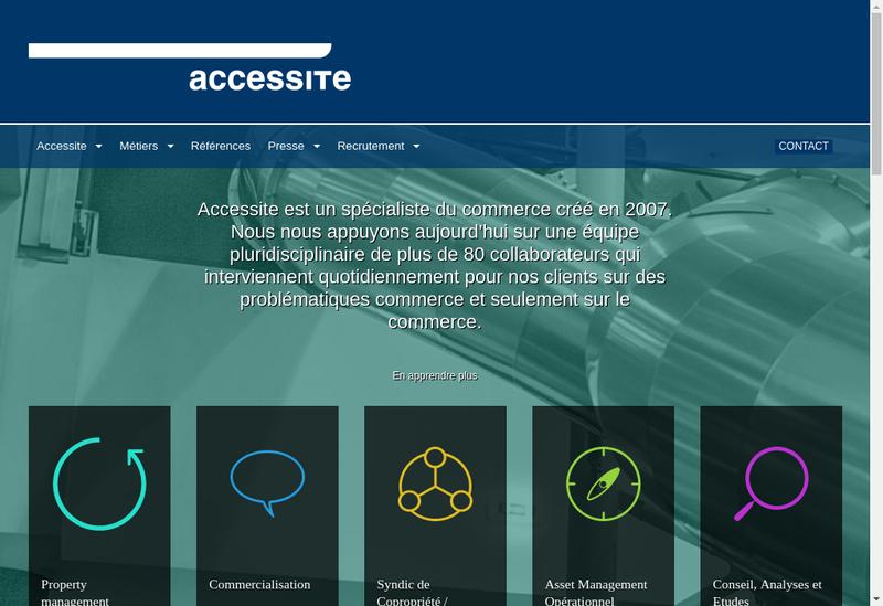Capture d'écran du site de Accessite