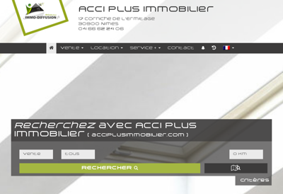 Capture d'écran du site de Acci Plus Immobilier