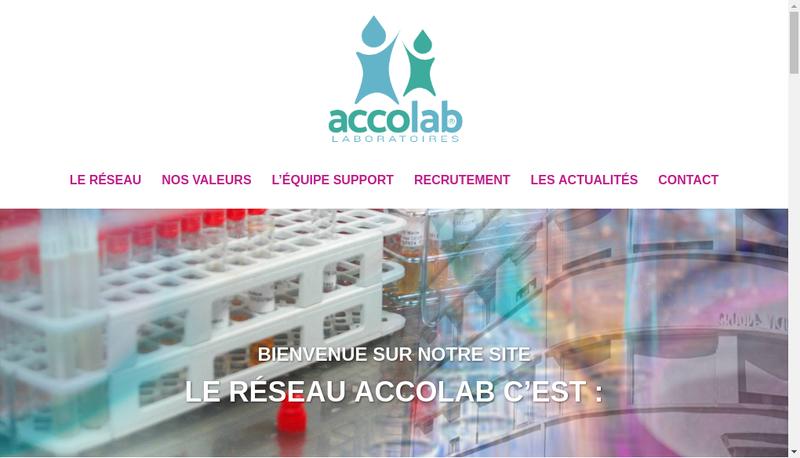 Capture d'écran du site de Accolab Sud Ouest