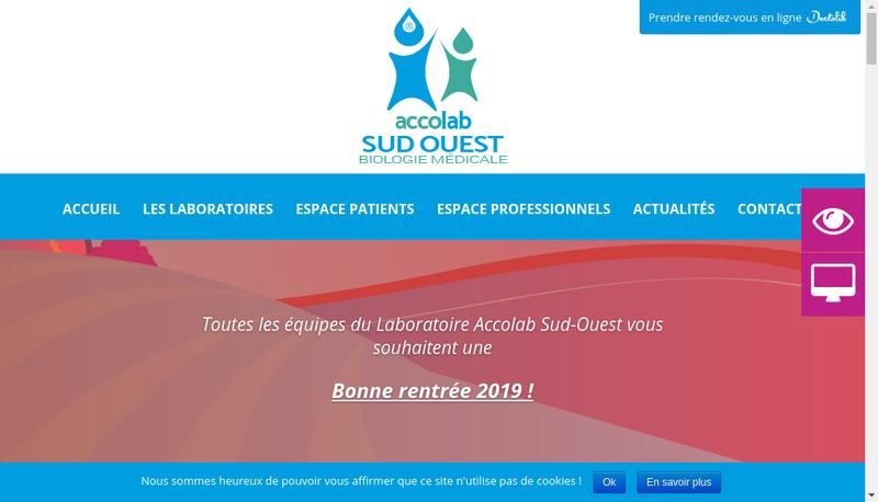 Capture d'écran du site de Accolab Sud-Ouest