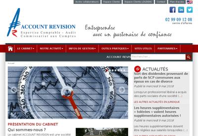 Capture d'écran du site de Account Revision