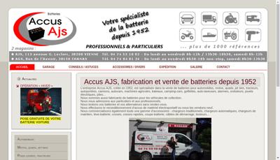 Capture d'écran du site de Accus Ajs