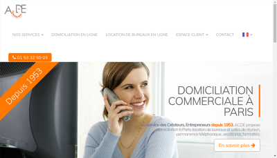 Capture d'écran du site de Allo Publiphone et ACDE