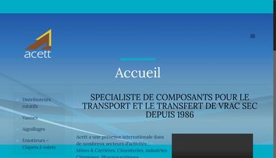 Site internet de Acett SARL