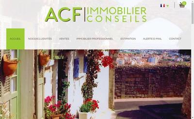 Site internet de Acf Immobilier