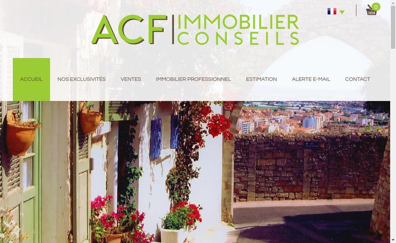 Capture d'écran du site de Acf Immobilier Conseils