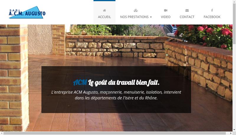 Capture d'écran du site de Acm Augusto