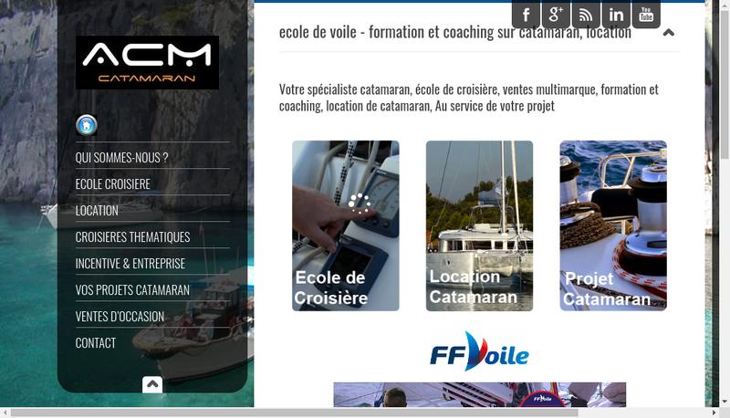 Capture d'écran du site de Acm Catamaran