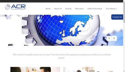 Site internet de Acr International Mobility