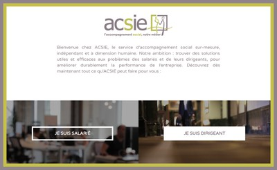 Site internet de Acsie