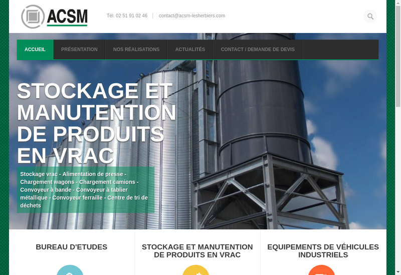 Capture d'écran du site de ACSM