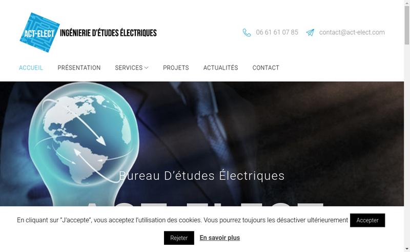 Capture d'écran du site de Act-Elect