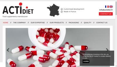 Site internet de Actidiet