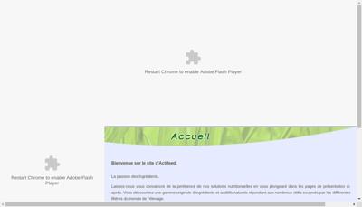 Capture d'écran du site de Actifeed