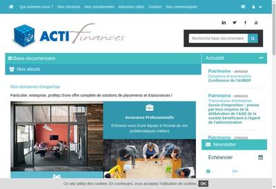 Site internet de Acti-Assurances Acti-Immo S Arraco
