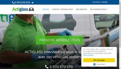 Site internet de Actiglass Ile de France
