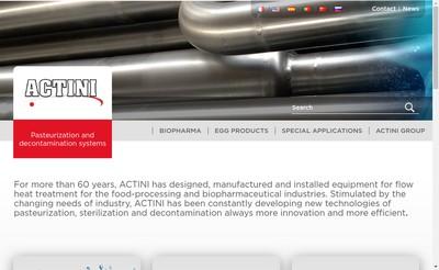 Site internet de Actini