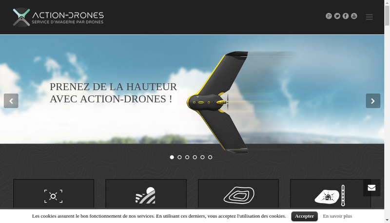 Capture d'écran du site de Action Drones