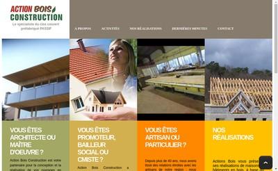 Site internet de Action Bois Construction