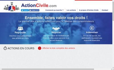 Site internet de Action Civile