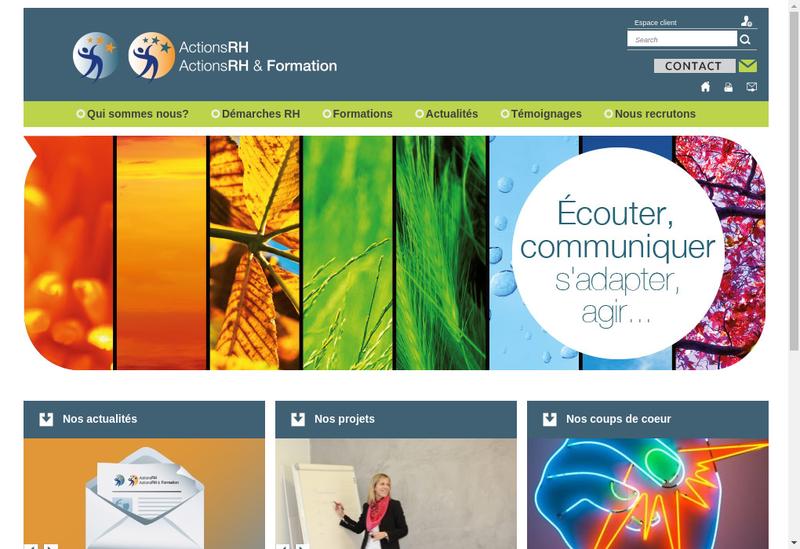 Capture d'écran du site de Actions Rh