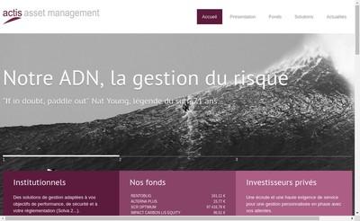 Site internet de Actis Asset Management
