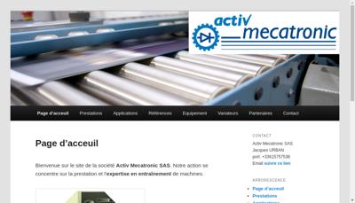 Capture d'écran du site de Activ Mecatronic