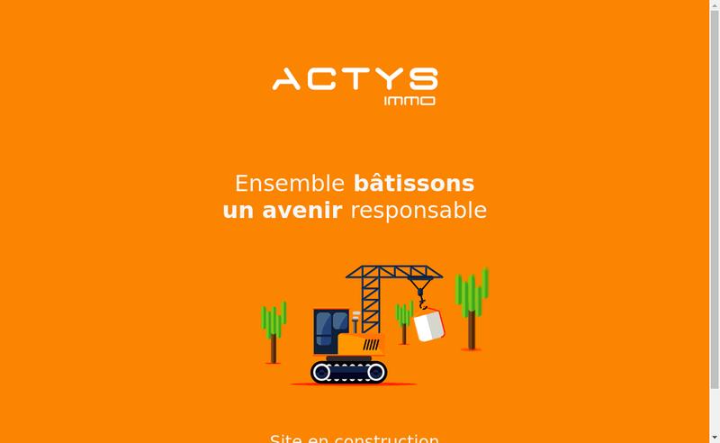 Capture d'écran du site de Actys Immo