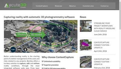 Site internet de Acute3D