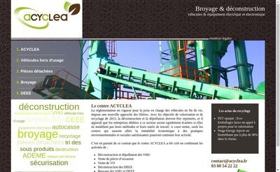 Site internet de Acyclea - Auto Casse