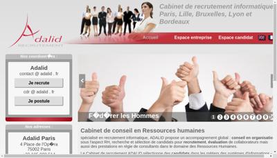 Capture d'écran du site de Adalid