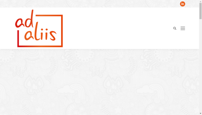 Capture d'écran du site de Ad Aliis