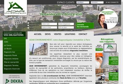 Site internet de Adar Environnement
