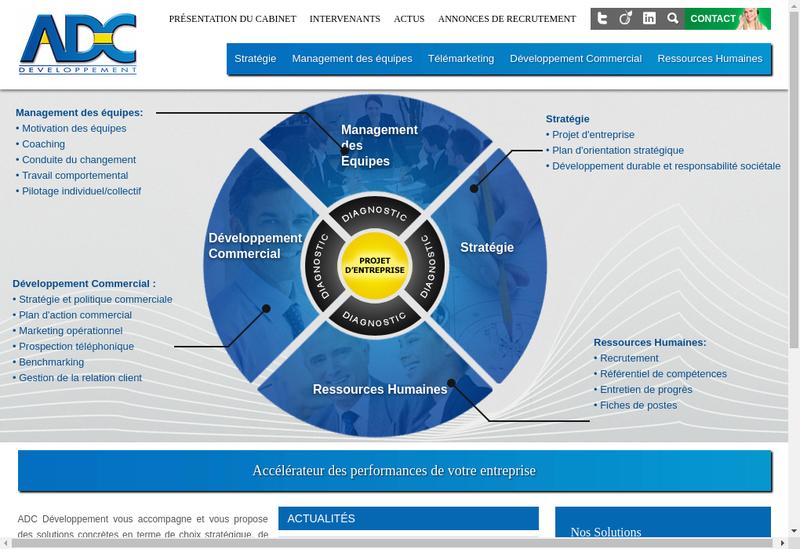 Capture d'écran du site de Adc Developpement