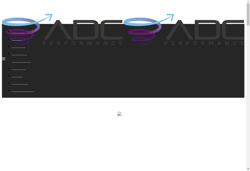 Capture d'écran du site de Adc Performance