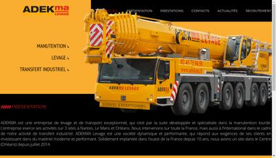 Capture d'écran du site de Adekma Levage