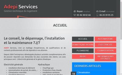 Site internet de Adepi Services