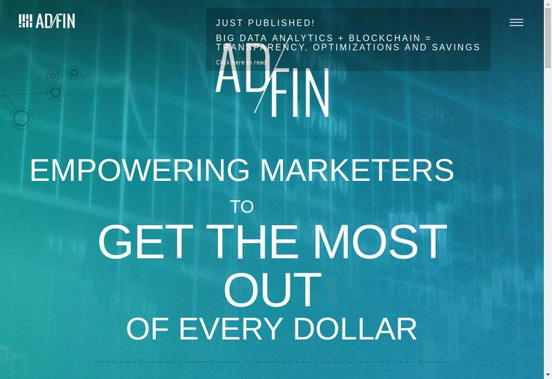 Capture d'écran du site de Adfin